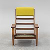 A ge-290a lounge chair by hans j wegner, for getama, designed 1953.