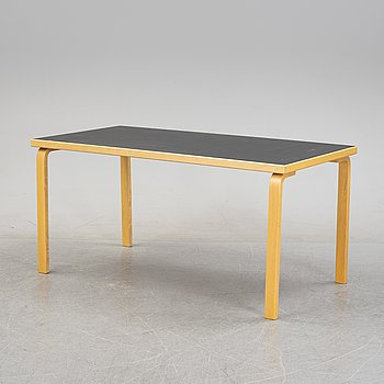 Alvar Aalto, a table, Artek, Finland, later part of the 20th century.