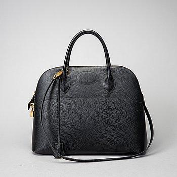 Hermès, a black leather 'Bolide' handbag.