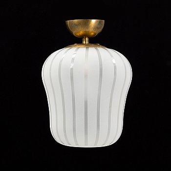 A Swedish Modern glass ceiling light, 1940's.
