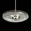 Birger ekman, a 1940's swedish modern ceiling light for glössner. signed b. ekman.