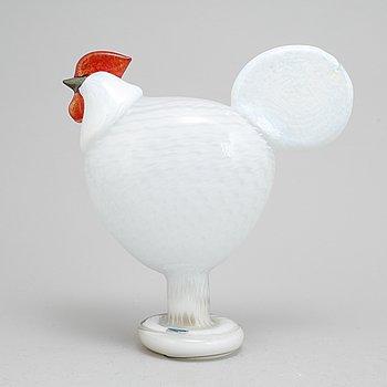 Oiva Toikka, a glass sculpture of a rooster, Nuutajärvi, Finland.