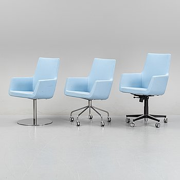 Roger Persson, a set of three 'Happy' armchairs from Swedese.
