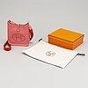 Hermès, an 'evelyn' pink clemence leather handbag.