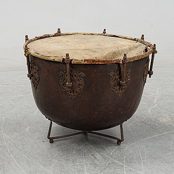 A 18th century kettle drum.