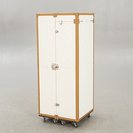 A 21st century leather trunk.
