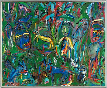 Björn Björnholt, oil on canvas, signed.