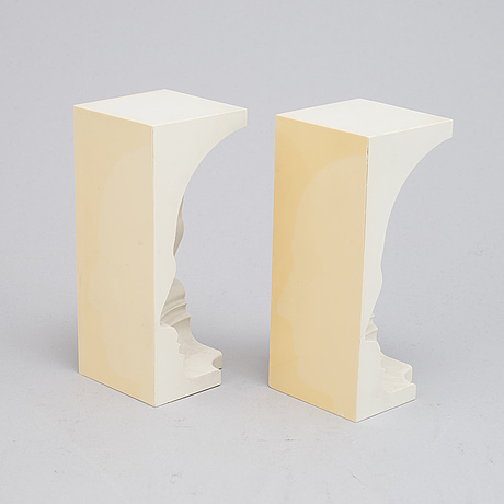 Sivert lindblom, sculpture, 2 parts, plastic, stamped 1968.