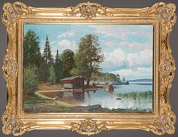Wille Salonen, oil on canvas, signed.