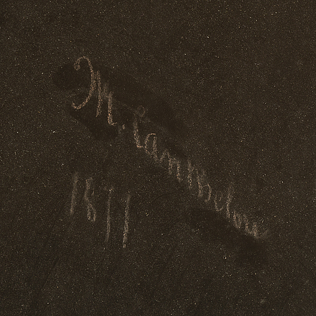 Unknown artist, 19th century, pastel on papaer/canvas, signed and dated.
