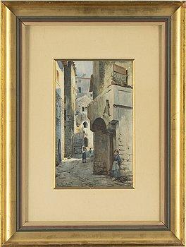 Ellen Jolin, watercolour, signerad and dated Terracina 1892.