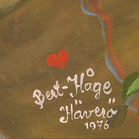 Bert håge häverö, oil on canvas, signed and dated 1976.
