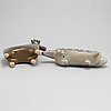 Lisa larson, two stoneware figurines, gustavsberg.