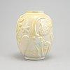 Anna-lisa thomson, a glazed earthenware vase from upsala-ekeby, 1940's.