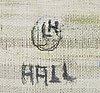 Lars hall, olja på duk, signerad, a tergo daterad 1988.