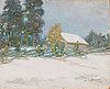 Rudolf koivu, oil on board, signed and dated-16.