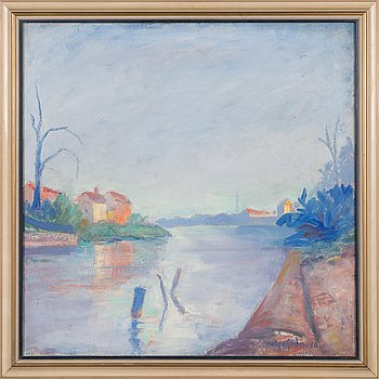 Helge Stén, oil on canvas, signed and dated -46.