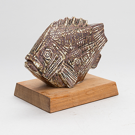 Taisto kaasinen, a stoneware sculpture probably signed.