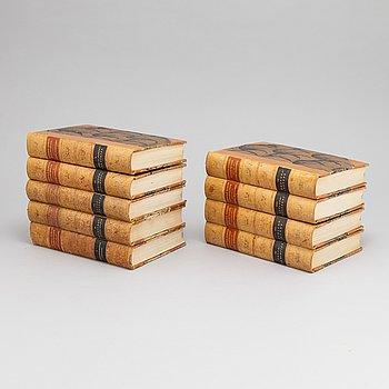 Nine volumes of Gustaf Elgenstiernas 'Den introducerade svenska adelns ättartavlor', Stockholm, 1925-36.