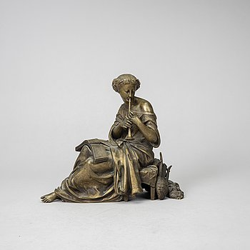 Auguste Moreau, after. Sculpture. Signed. bronze, height 22 cm, length 25 cn.