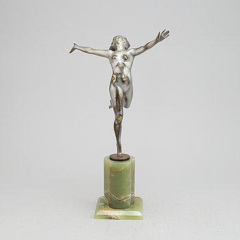 A bronze sculpture by Otto Hafenrichter, Art Déco.