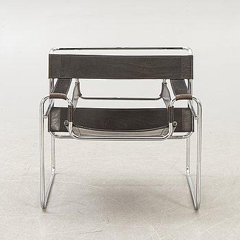 "Marcel Breuer, armchair ""Wassily"" Gavina, late 20th century."