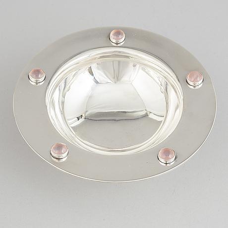 Mogens bjørn andersen, a sterling silver bowl, birkerød, denmark 1950-60s.
