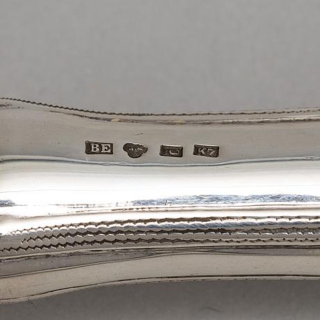 A set of swedish art nouveau carving cutlery, mark of  b erlandson, kristianstad 1912.