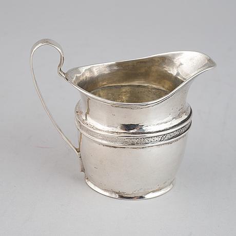 A silver empire creamer, mark of johan winqvist, helsinki, circa 1820.