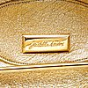Judith leiber, a clutch and pill box.