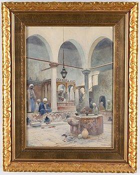 Frans Wilhelm Odelmark, watercolour, signed.