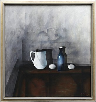Bengt Hillgrund, oil on canvas signed and dated 80.