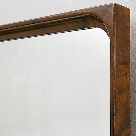 A 1940/50s  walnut mirror.