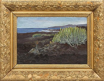 Arthur Bianchini, oil on panel signed and dated 45.
