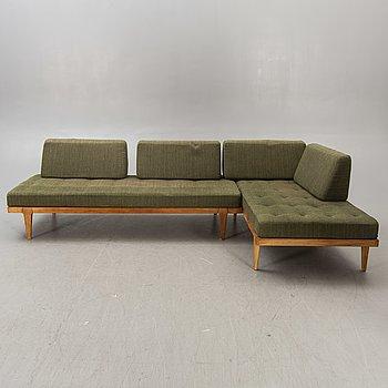 A 1960s Erik Wörtz oak 2 parts daybed/sofa for IKEA.