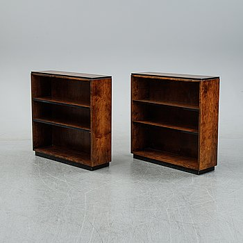A pair of birch bookcases, 1940's.