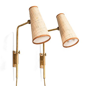 Paavo Tynell, a pair of early 1950's wall lights for Taito.