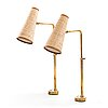 Paavo tynell, a pair of early 1950's table lamps for taito.