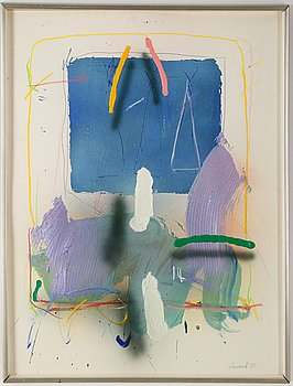 James Havard, mixed medai on papaer, signed and dated -75.