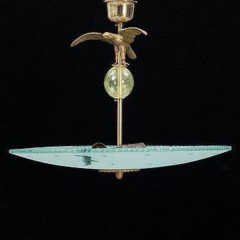 A Swedish Modern ceiling lamp, 1940's.