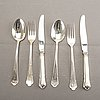 A swedish 20th century set of 36 pcs of silver cutlery mark of gab simrishamn 1989, tolta weight 1060gr.