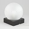 "Bordslampa, ""globen"", kristallia of sweden."
