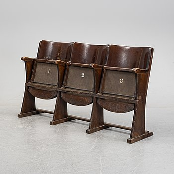 A cinema bench, Thonet, first half of the 20th Century.