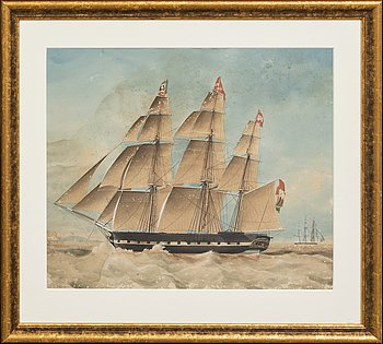 Okänd konstnär 1800-tal , watercolour signed and dated 1840 (?).