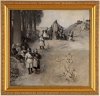 Julius Kronberg, oil on canvas, signed and dated -94.
