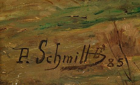 Paul léon felix schmitt, oil on canvas, signed and dated -85.