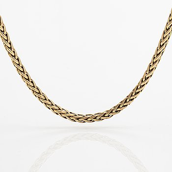 A 14K gold necklace. Finnish import marks.