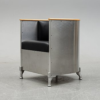 An 'Aluminium' armchair by Mats Theselius for Källemo, designed 1990.