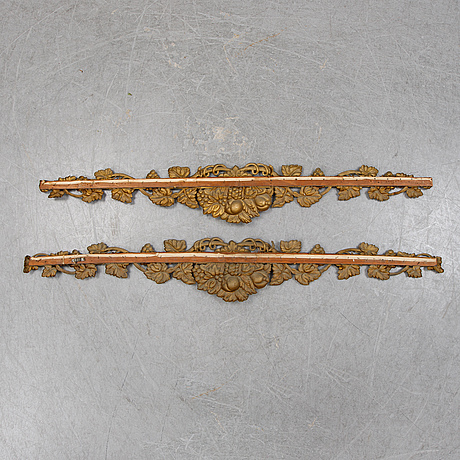 A pair of late 19th century cornices.