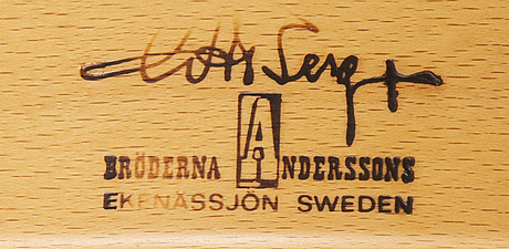 Inge andersson and gösta berg, armchair bröderna andersson, late 20th century.
